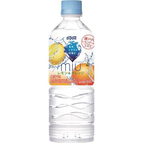 ダイドードリンコ ミウ レモン&オレンジ550ml 24本