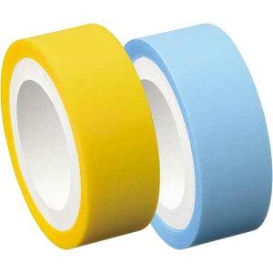 ヤマト メモックロールテープ詰替フィルム 15mm幅黄・青