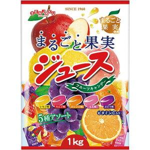 扇雀飴本舗 まるごと果実ジュースキャンデー 1kg入×3