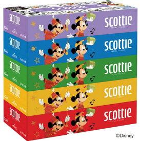 日本製紙クレシア スコッティ ティシュー 5箱 ディズニー×4