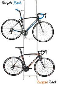 25日はカードご利用で5倍/【送料無料】室内用/ツッパリ式自転車ラック 2台用 SB-01 ホワイト 自転車スタンド サイクルラック ディスプレイスタンド サイクルスタンド