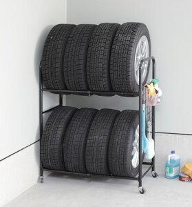 15日楽天カードで5倍/カバー付きタイヤラック 伸縮ワイドタイプ タイヤスタンド スチールラック タイヤ収納棚 タイヤ収納ラック タイヤ置き タイヤカバー タイヤ交換 スタッドレスタイヤ