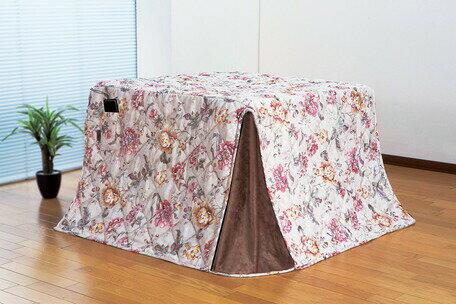 【送料無料】ジャカード織ハイタイプこたつ掛布団花柄(ハンナ) 235×290cm こたつ布団