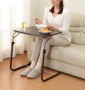 【今ならポイント最大16倍】【送料無料】角度調整付折りたたみテーブル(補強バー付) 幅53.5×高さ55.5〜72.5cm 天板角度3段階調節 耐荷重10kg サイドテーブル カフェテーブル ナイトテーブル