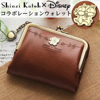 辛迪加 x 迪斯尼 Shinzi Katoh 集团迪士尼钱包钱包的钱囊两个折叠,折叠钱袋两个迪斯尼 collabo 芯片与戴尔