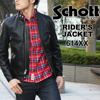SCHOTT shot 641 XX 60 s STAND RIDERS SCHOTT shot schott riders single Ray Sanders 7009 leather jackets stand men's outerwear leather