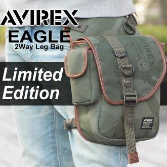 AVIREX 鹰限量版 2 条腿走路袋 AVIREX avirex avirexl 老鹰鹰 2 条腿走路袋肩版