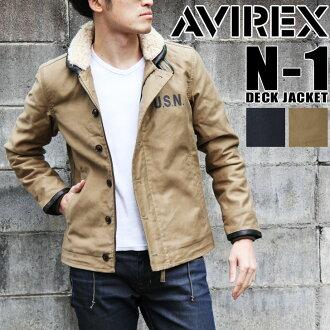 AVIREX avirexl n-1 夹克 6152199 avirex avirex 外甲板夹克冬季夹克薄橄榄海军毛绒摩托车