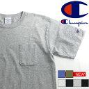 スーパーSALE★Champion チャンピオン Tシャツ 半袖 ポケットtシャツ ポケット付き Tシャツトップス Tシャツ ポケT T1011 メンズ レディース ブランド 無地 シンプル C5-B