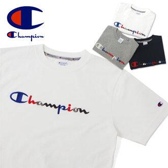 冠军冠军行动风格 T 男式衬衫 C3 H371 女士短袖子上衣内缝制的刺绣体育城市品牌棉