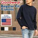 送料無料 Goodwear グッドウェア レギュラーフィット ロングスリーブTシャツ ロンT ロングTシャツ メンズ レディース …