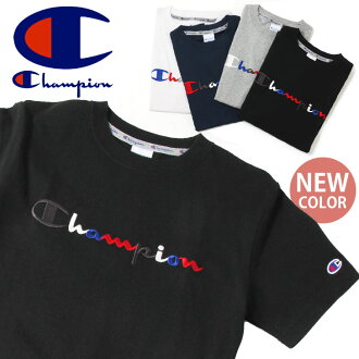Champion champion action style T shirt C3-H371 men's ladies Short Sleeve Tops inner sewn embroidery sports urban brands cotton