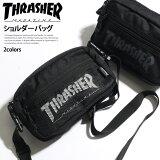 送料無料THRASHERスラッシャーショルダーバッグレディースメンズユニセックスバッグかばん鞄ミニショルダーバッグ斜めがけ軽い小さめ旅行サコッシュバッグポシェットウエストバッグ2way