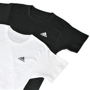 送料無料adidasアディダス2PクールネックTシャツメンズトップスインナー半袖無地シンプル白黒パックT2枚セット2枚組丸首ブランドスポーツスポーツウェア運動ジム吸汗速乾
