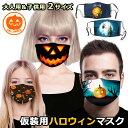 送料無料 ハロウィン プリント マスク 仮装 コスプレ 変装 口元 プリントマスク 大人 子ども メンズ レディース キッ…