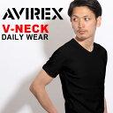 送料無料 AVIREX Tシャツ アビレックス デイリー Tシャツ avirex アヴィレックス メンズ レディース Vネック Tシャツ 6143501 617...
