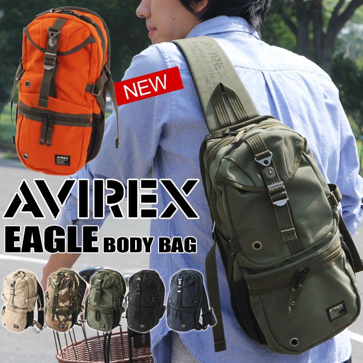 AVIREX アビレックス ボディバッグ AVX305 メンズ ミリタリーバッグ 斜めがけ 防水 カモフラ 迷彩 アヴィレックス ボディバッグ メンズ AVIREX アビレックス ボディバッグ メンズ アビレックス