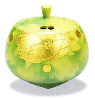 사기 그릇 「3.5호 향로・금박 길상 보탄」야마다 노보루양지축하・해외에의 선물・기프트