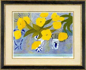 """皮埃爾·bonkompan""""derufuto的花瓶和黄色的花"""""""