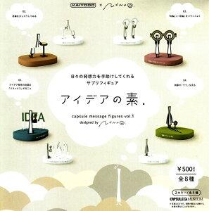 海洋堂 nendo カプセルQミュージアム アイデアの素 vol.1 ガチャガチャ 全8種セット(フルコンプ)