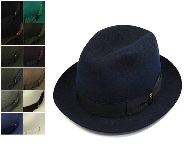 """帽子 イタリア製""""Borsalino(ボルサリーノ)""""ファーフエルトソフト帽[ハット] 【あす楽対応】[大きいサイズの帽子アリ]【コンビニ受取対応商品】"""