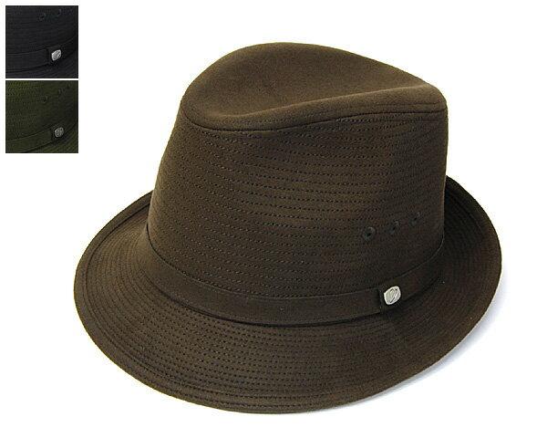 """帽子【アウトレットA】 日本製""""Borsalino(ボルサリーノ)""""スエード調ステッチ中折れ帽[BS209][ハット] 【あす楽対応】[大きいサイズの帽子アリ]【コンビニ受取対応商品】"""