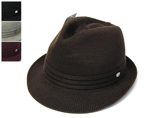 """帽子 【アウトレットS】 日本製""""Borsalino(ボルサリーノ)""""ニット中折れ帽[BS305] ニット帽[ハット] 【あす楽対応】[大きいサイズの帽子アリ]【コンビニ受取対応商品】SS17B"""