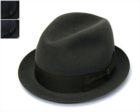 """帽子 イタリア製""""Borsalino(ボルサリーノ)""""ファーフェルト中折れ帽[390128][ハット] 【あす楽対応】[大きいサイズの帽子アリ]【コンビニ受取対応商品】【ラッキーシール対応】"""