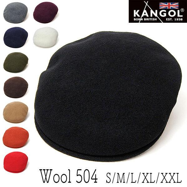 """帽子 """"KANGOL(カンゴール)""""ウールハンチング [WOOL504]【あす楽対応】[大きいサイズの帽子アリ][小さいサイズの帽子あり]【コンビニ受取対応商品】"""