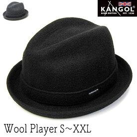 """帽子 """"KANGOL(カンゴール)"""" ウール中折れ帽 WOOL PLAYER ハット メンズ 秋冬 [大きいサイズの帽子アリ][小さいサイズあり]"""