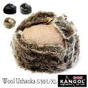 """【ウインターセールSTART】 帽子 イギリス""""KANGOL(カンゴール)"""" ファー付き飛行帽 WOOL USHANKA メンズ レディース …"""
