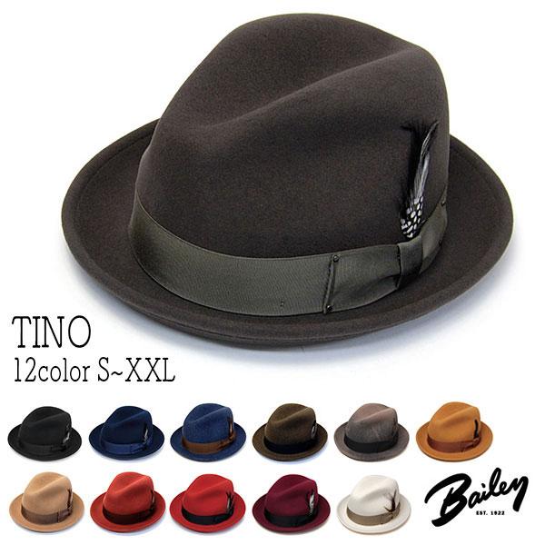 """帽子 [ウインターセール] アメリカ""""Bailey(ベイリー)""""ウールフエルト中折れ帽<TINO>[ハット] 【あす楽対応】【送料無料】[大きいサイズの帽子アリ][小さいサイズの帽子あり]【コンビニ受取対応商品】 18aw"""