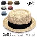 """帽子 アメリカ""""Bailey(ベイリー)""""ブレードポークパイハット<WAITS>【あす楽対応】 [大きいサイズの帽子アリ]【コンビニ受取対応商品】"""