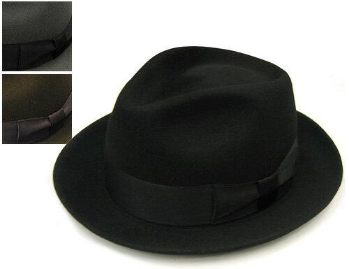 """帽子 DRAGON HAT(ドラゴンハット)""""ウールフエルト中折れ帽[ハット] 【あす楽対応】[大きいサイズの帽子アリ][小さいサイズあり]【コンビニ受取対応商品】 ウインターセール"""