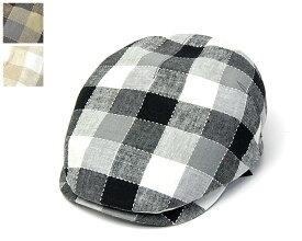 """帽子 ドイツ""""Mayser(マイザー)"""" チェックハンチング メンズ 春夏 [大きいサイズの帽子アリ] アウトレットAW20"""