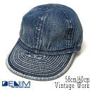 """帽子 """"THE FACTORY MADE(ザファクトリーメイド)"""" ビンテージデニムキャップ [Vintage Work]【あす楽対応】【コンビニ受取対応商品】【ラッキーシール対応】"""
