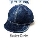 """帽子 """"THE FACTORY MADE(ザファクトリーメイド)"""" ビンテージデニムキャップ [シャドーDENIM ]【あす楽対応】【コンビニ受取対応商品】"""