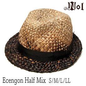 """帽子 """"NOL(ノル)"""" ストロー中折れ帽(Ecengon Half Mix) [ハット] 【あす楽対応】[大きいサイズの帽子アリ][小さいサイズあり]【コンビニ受取対応商品】 nols"""