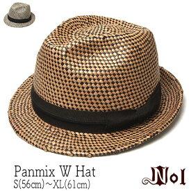 """【ポイント10倍】 帽子 """"NOL(ノル)"""" ストロー中折れ帽 Panmix W Hat ストローハット メンズ ユニセックス 春夏 [大きいサイズの帽子アリ] アウトレットSS20"""