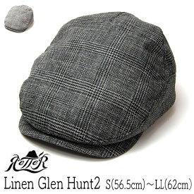"""帽子 【アウトレットS】""""Retter(レッター)""""リネンハンチング(Linen Glen Hunt2)【あす楽対応】 [大きいサイズの帽子アリ]【コンビニ受取対応商品】【ラッキーシール対応】"""