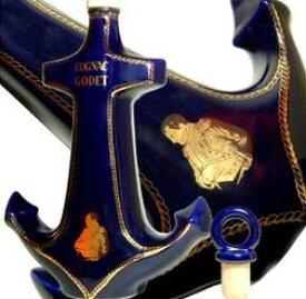 ゴデ アンカー 青 700ml 40度 箱付 (Cognac Godet Porcelaine De France) ブランデー コニャック kawahc 2