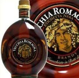 ヴェッキアロマーニャ エチケッタ ネラ 750ml 40度 VECCHIA ROMAGNA ヴェッキャロマーニャ Etichetta Nera Italian brandy Italy イタリア産ブランデー kawahc