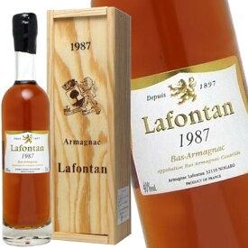 [1987]年 昭和62年生まれの方へ アルマニャック ラフォンタン [1987] 200ml 40度 (Armagnac Lafontan [1987]) kawahc