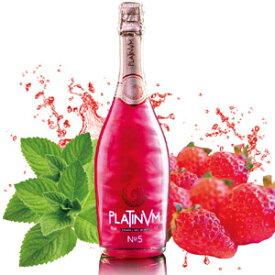 【ラメ入りスパークリングワイン】 プラチナム フレグランス No.5 ストロベリー&ミント 750ml 160年以上の老舗ワインメーカーが造るスペイン産 kawahc
