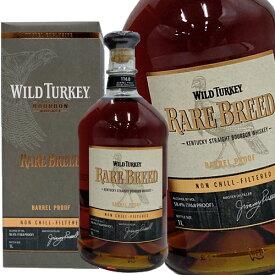 ワイルドターキー レアブリード 1000ml 58.4度 箱付 ワイルドターキー ケンタッキーストレートバーボンウイスキー Wild Turkey RARE BREED kentucky straight bourbon whiskey アメリカ産ケンタッキー州 バーボン ウイスキー kawahc