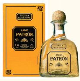 パトロン アネホ テキーラ 750ml 40度 箱付 Patron Anejo Tequila 100% de Agave パトロン アニェホ メキシコ Mexico 100%アガベ テキーラ kawahc