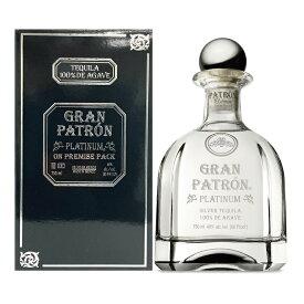 パトロン プラチナ 750ml 40度 箱付 Patron GRAN PLATINUM Tequila 100% de Agave グラン パトロン メキシコ産 Mexico 100%アガベ テキーラ kawahc