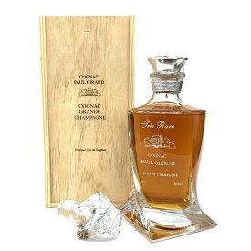 ポールジロー クリスタルデキャンタ トレラール 700ml 40度 木箱付 グランシャンパーニュ コニャック Paul Giraud Tres Rare Grande Champagne DECANTER Cognac ブランデー kawahc フランス産