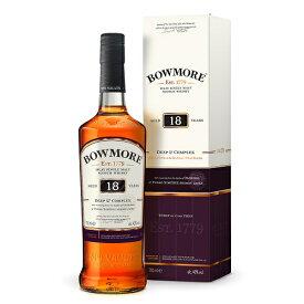 ボウモア 18年 700ml 43度 箱付 Deep and Complex Bowmore 18years アイラモルト シングルモルト アイラウイスキーウヰスキーウィスキー IslayMalt SingleMalt Scotch Whisky kawahc