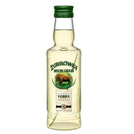 ズブロッカ ウォッカ ミニチュア 50ml 37.5度 バイソングラス 正規輸入品 Zubrowka Biala Orijinal ウオッカ Vodka ミニボトル 正規 正規品 正規代理店輸入品 kawahc